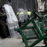Disturbios en Plaza de Bolívar