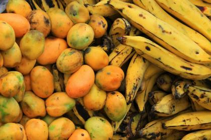 Plátano y mango