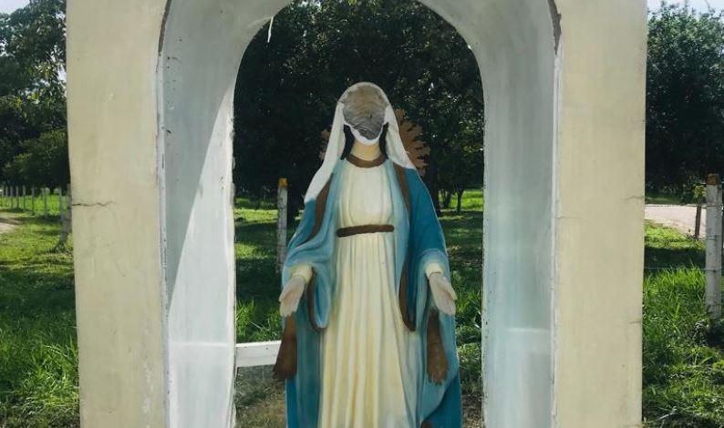 Virgen en batallón militar de Arauca