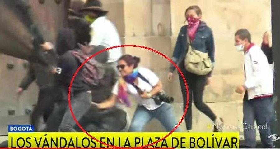 Actos vandálicos en Bogotá.