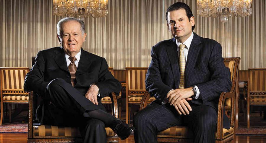 Luis Carlos Sarmiento Angulo y Luis Carlos Sarmiento Gutiérrez