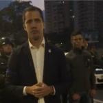 Juan Guaidó y Leopoldo López en La Carlota