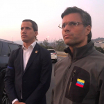 Juan Guaidu00f3 y Leopoldo Lu00f3pez