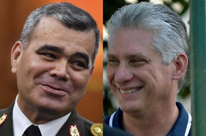 Vladimir Padrino y Miguel Díaz-Canel
