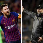 Lionel Messi y Jurgen Klopp