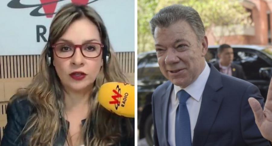Vicky Dávila y Juan Manuel Santos