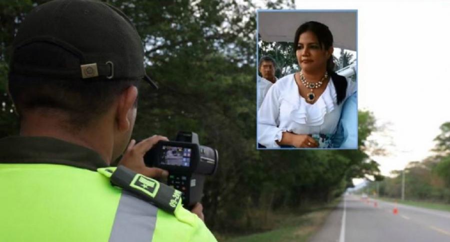 Mujer insulta a policías