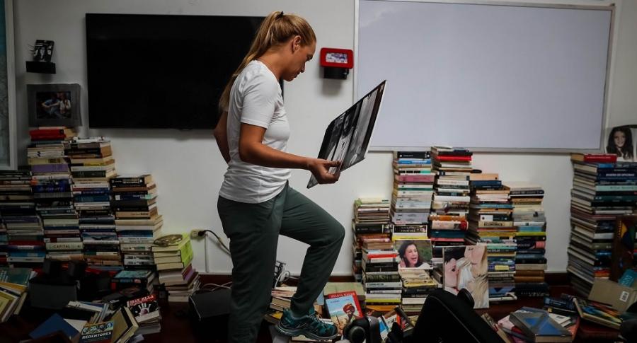 Lilian Tintori en la casa de Leopoldo López