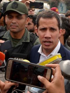 Juan Guaidó en La Carlota