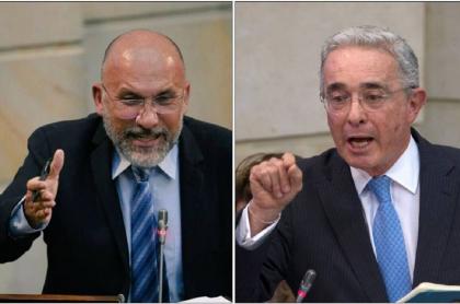 Roy Barreras y Álvaro Uribe