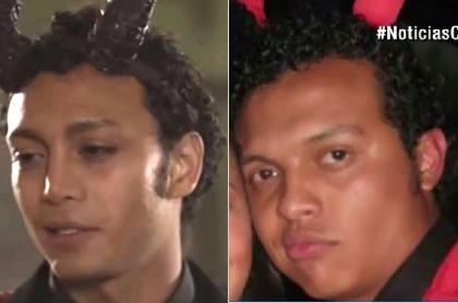 Sebastián Osorio, actor, y Luis Andrés Colmenares, universitario.