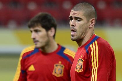 Íker Casillas y Víctor Valdés