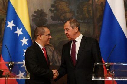 Serguéi Lavrov con Jorge Arreaza