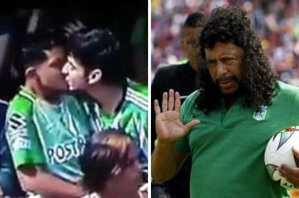 Hinchas de Nacional y René Higuita