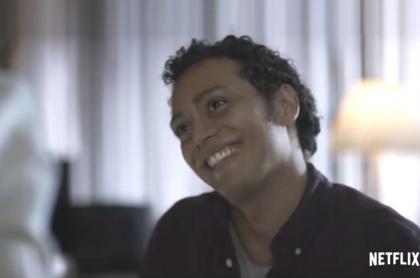 El actor Sebastián Osorio, interpretando a Luis Andrés Colmenares.