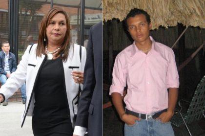 Oneida Escobar y su hijo Luis Andrés Colmenares.