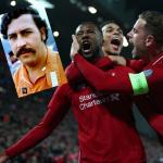 Pablo Escobar y jugadores del Liverpool
