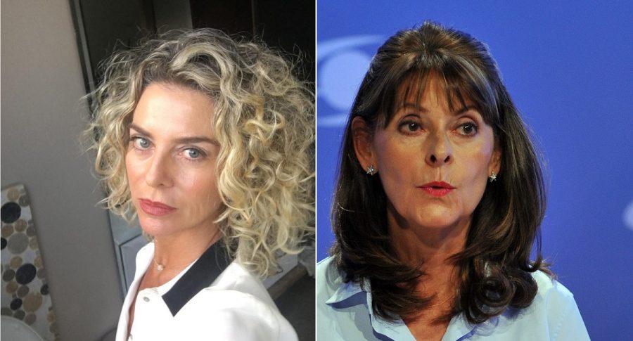 Margarita Rosa de Francisco, presentadora, y Marta Lucía Ramírez, vicepresidenta de Colombia.