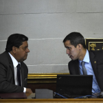Edgar Zambrano y Juan Guaidó
