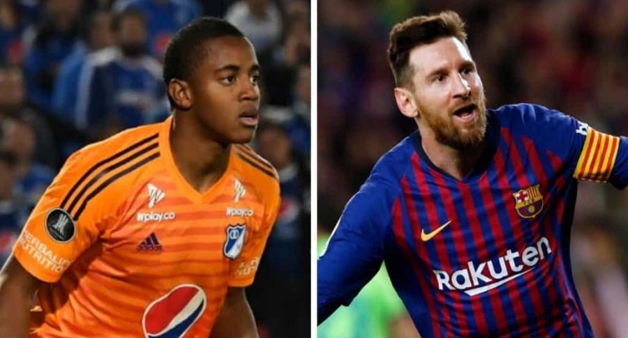 Wuilker Fariñez y Lionel Messi