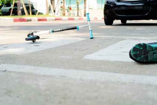 Accidente en patineta eléctrica
