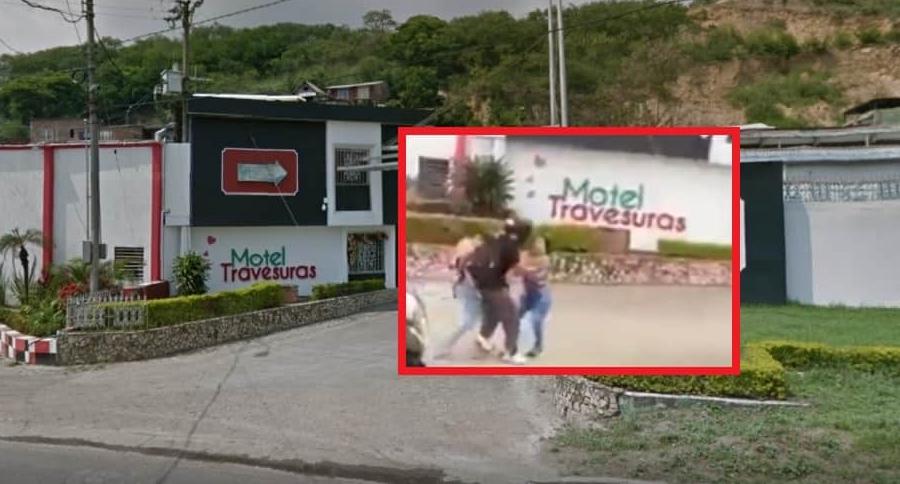 Motel Travesuras, donde dos mujeres protagonizaron pelea.