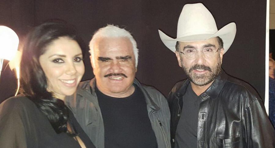 Kry Ortegón, Vicente Fernández y Vicente Fernández Jr.