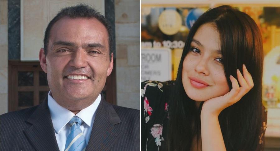 Enrique Carriazo y Laura Osma, actores.