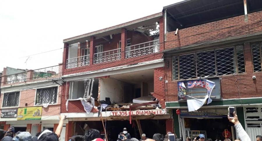 Vivienda que explotó en Bogotá