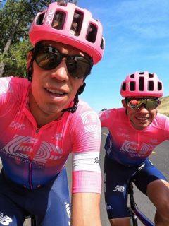 Rigoberto Urán y Sergio Higuita