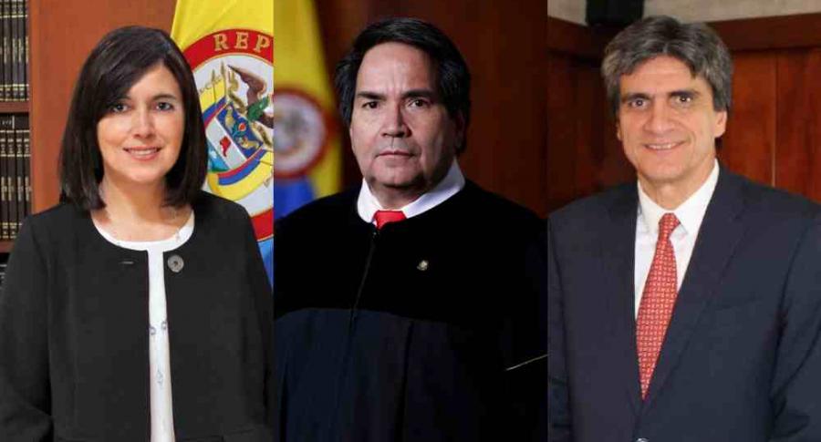 Magistrados sin visa Diana Fajardo Eyder Patiño y Antonio Lizarazo