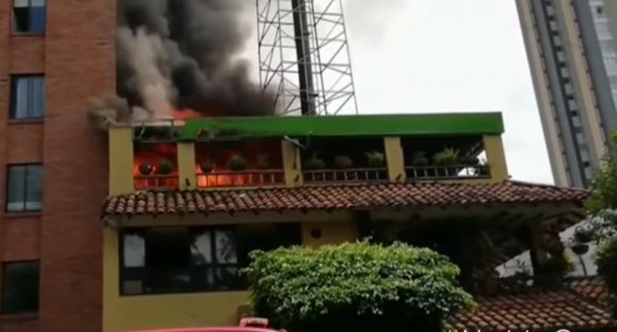 Incendio en restaurante de Bucaramanga