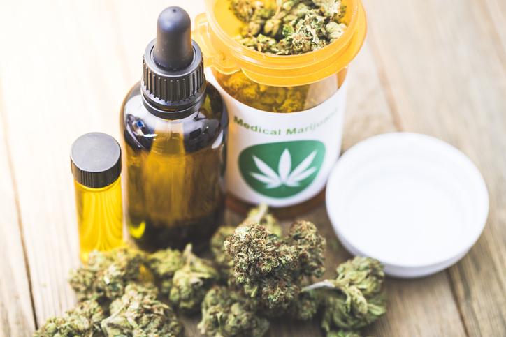 Productos de cannabis medicinal.