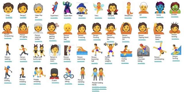 nuevos emojis para Android.
