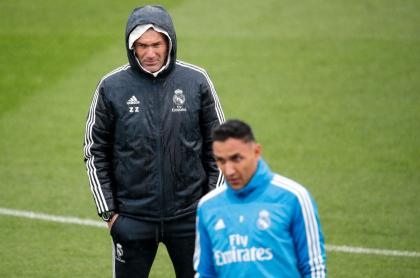 Zinedine Zidane y Keylor Navas