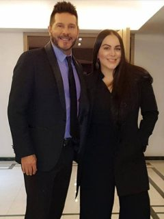 Marcelo Cezán, presentador y actor, y Michelle Gutty, bailarina.