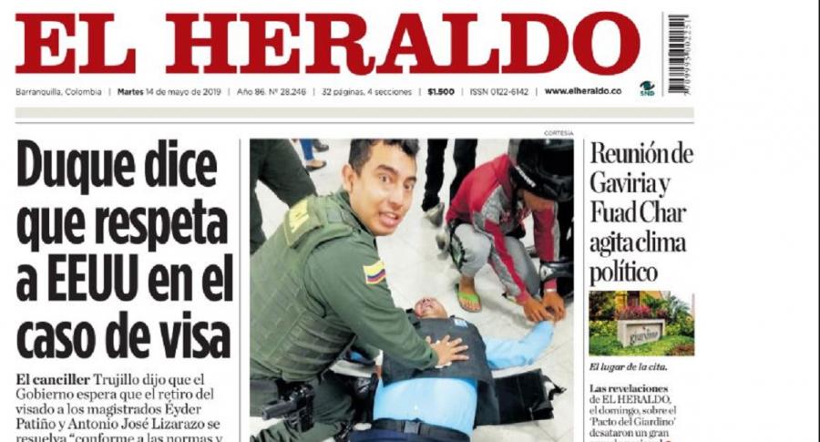 Primera página de El Heraldo