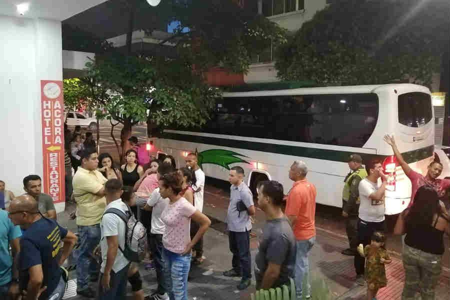 Desalojo de militares venezolanos en Cúcuta