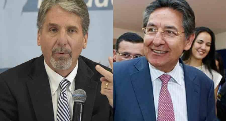 Kevin Whitaker y Néstor Humberto Martínez
