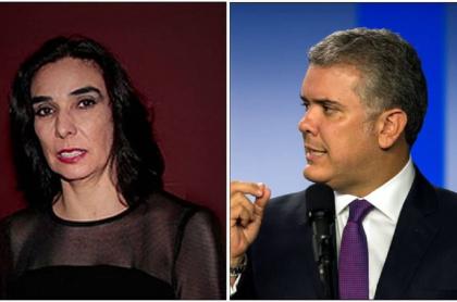 Clara María Gonzáles Zabala e Iván Duque