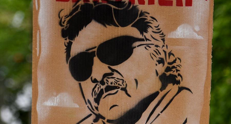 Pancarta en apoyo de 'Jesús Santrich'