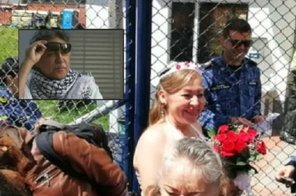 Mujer vestida de novia en La Picota