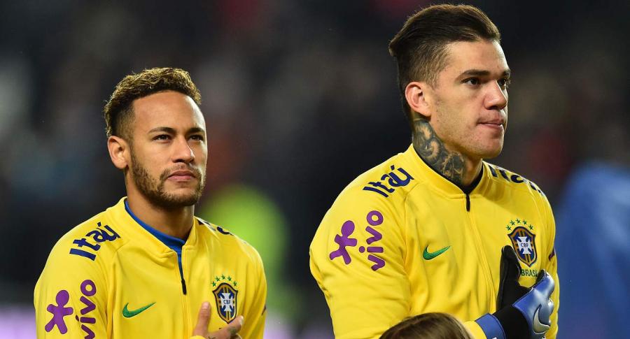 Neymar y Ederson