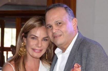 María Mónica Urbina, exreina, y José Guillermo Hernández, ganadero (Q.E.P.D.).