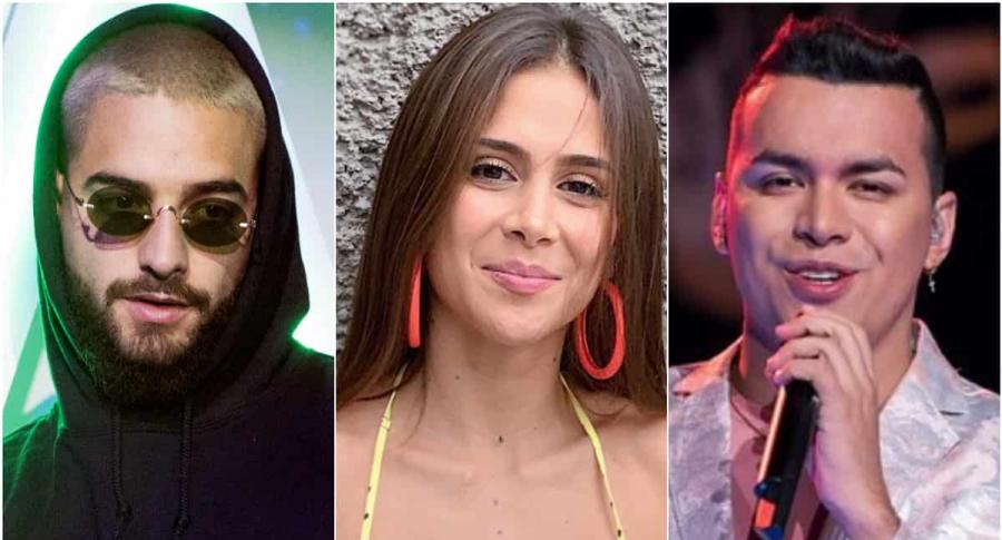 Maluma, Greeicy y Yeison Jiménez