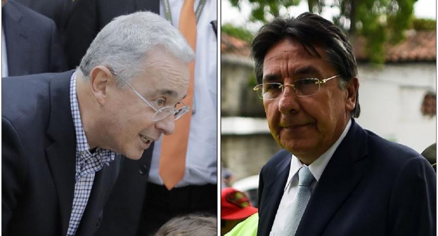 Álvaro Uribe y Néstor Humberto Martínez