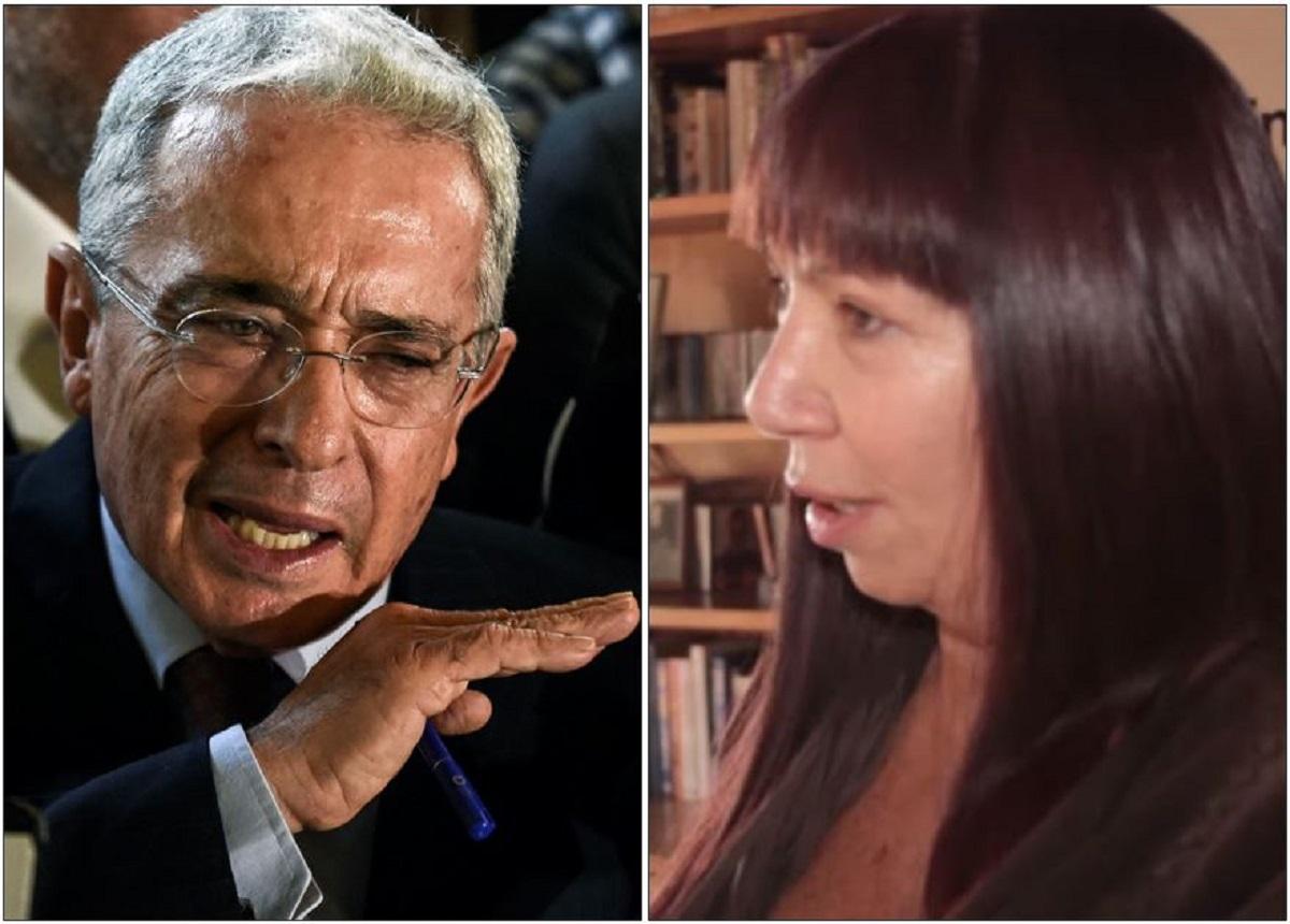 Álvaro Uribe y María Jimena Duzán