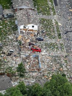 Viviendo quedó en escombros tras explosión