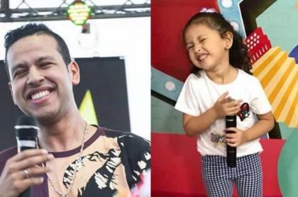el cantante Martín Elías Díaz (Q.E.P.D.) y su hija Paula Elena.