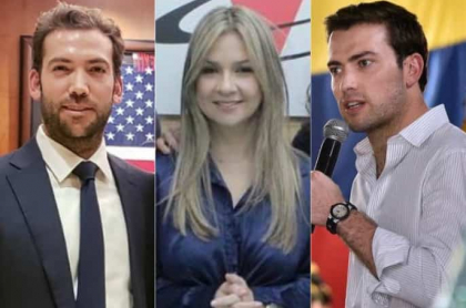 Martín Santos, Vicky Dávila y Esteban Santosos